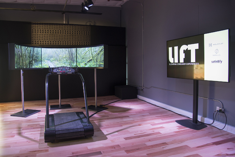 Immersive soundscape with a central sound reinforcement system at the LIFT retail concept store