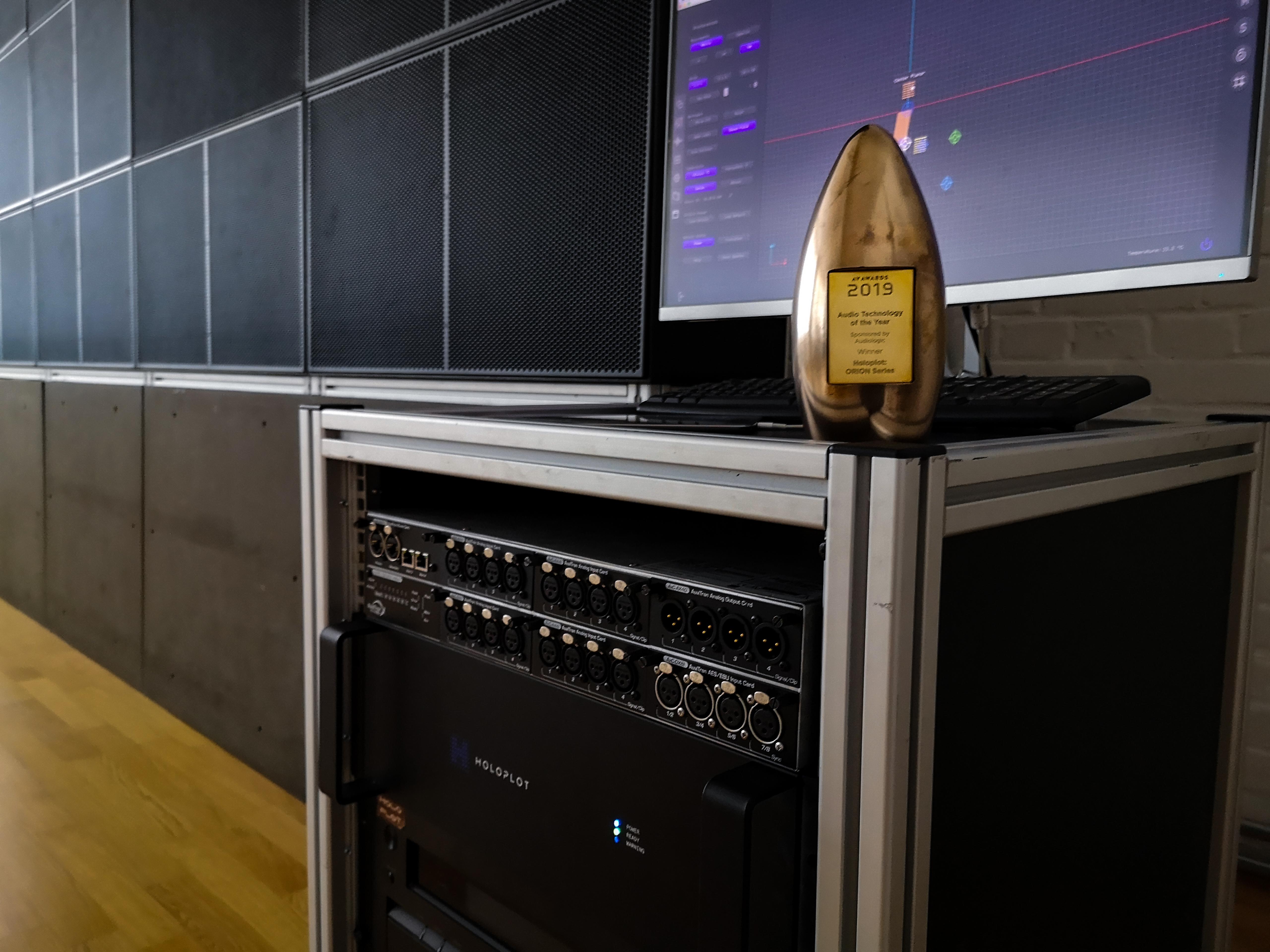 Audio Technology of the Year Auszeichnung von Holoplot, Photo: Holoplot GmbH
